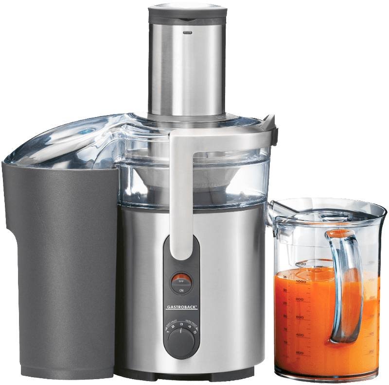 40128 Design Multi Juicer, Entsafter, Silber/Transparent