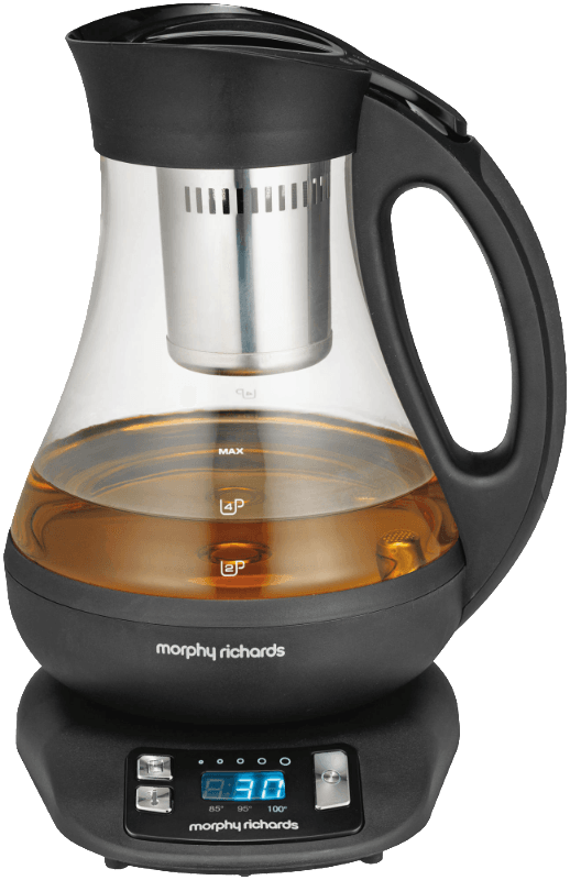 MORPHY RICHARDS 43970, Teekocher, Schwarz, Transparent