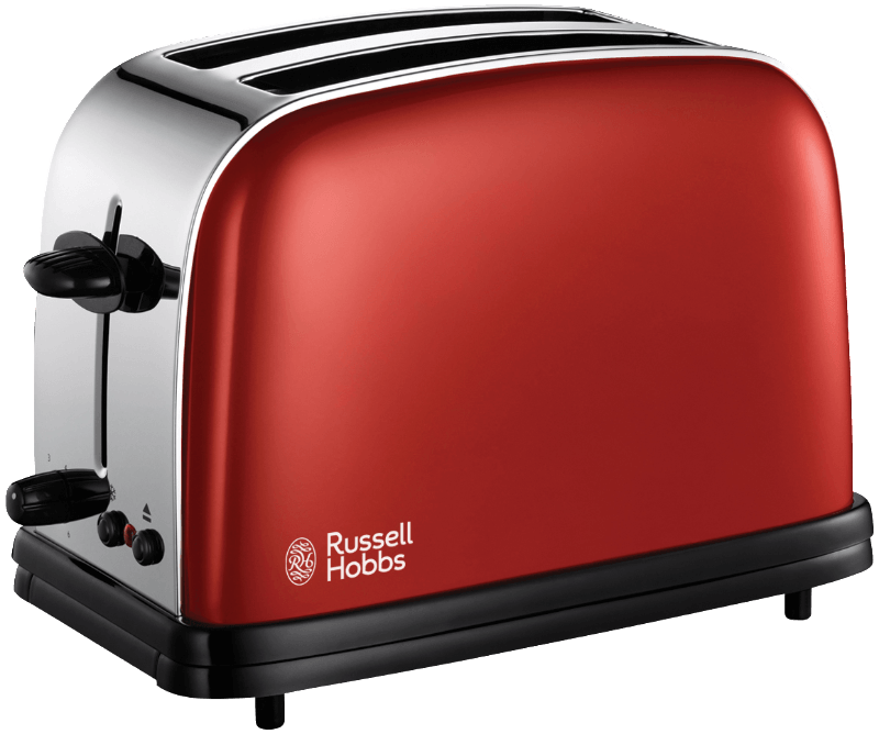 18951-56 Toaster Flame Red Toaster, 1.1 kW, Rot/Chrom/Schwarz