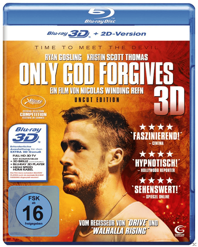 Only God Forgives (3D) (Uncut Edition) Drama Blu-ray 3D