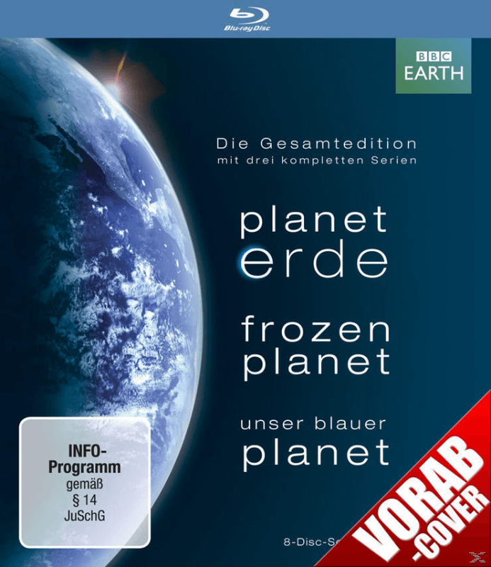 Planet Erde / Frozen Planet / Unser Blauer Planet Dokumentation Blu-ray