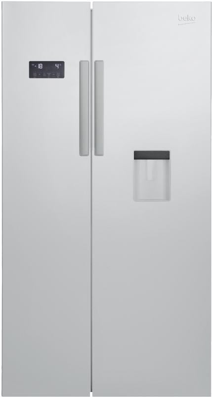 BEKO GN 163221 S, Side-by-Side, A+, 484 kWh/Jahr, 1820 mm hoch, Silber