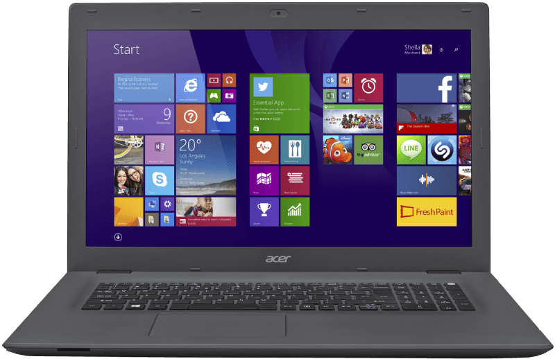 Acer E5-772G-37RD, Notebook mit 17.3 Zoll, 1 TB Speicher, 8 GB RAM, Core i3 Prozessor, Windows 10 (64 Bit), Black/Iron, Kategorie: