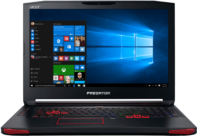 Acer Predator 17 G9-792-75UA, Notebook mit 17.3 Zoll, 16 GB RAM, Intel Core Prozessor, Windows 10 Home (64 Bit), Schwarz, Kategorie: