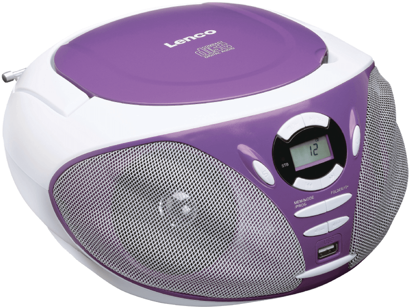 SCD-300, Tragbares FM Radio mit CD Player, Lila