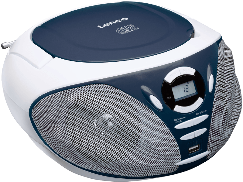 SCD-300, Tragbares FM Radio mit CD Player, Blau