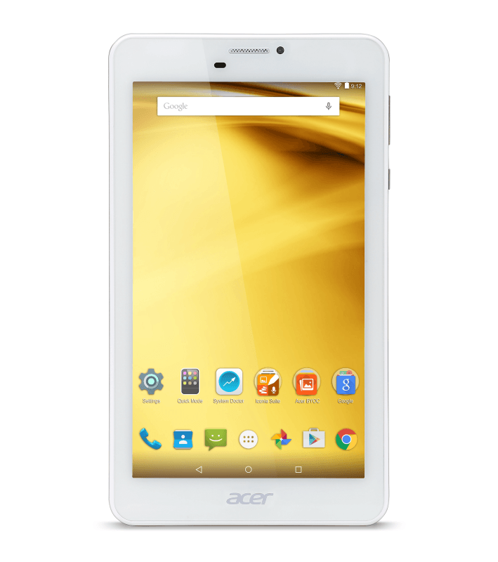 ACER Iconia Talk 7 (B1-733), Tablet mit 7 Zoll, 16 GB Speicher, 1 GB RAM, Android 6.0 (Marshmallow), Silber