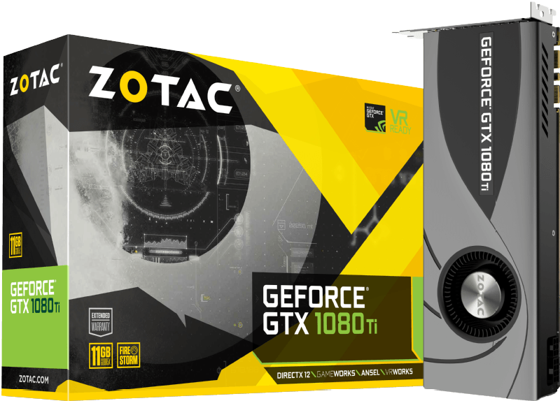ZOTAC GeForce GTX 1080Ti Blower 11GB (ZT-P10810B-10P)( NVIDIA, Grafikkarte)