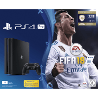 SONY 9365679 PS4 1TB PRO BLK +FIFA 18+PS PLUS 14 TAGE (Gaming)