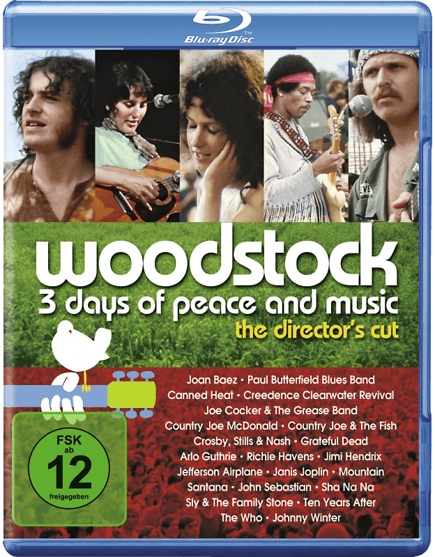 Woodstock - 3 Days of Peace and Music Musik Blu-ray