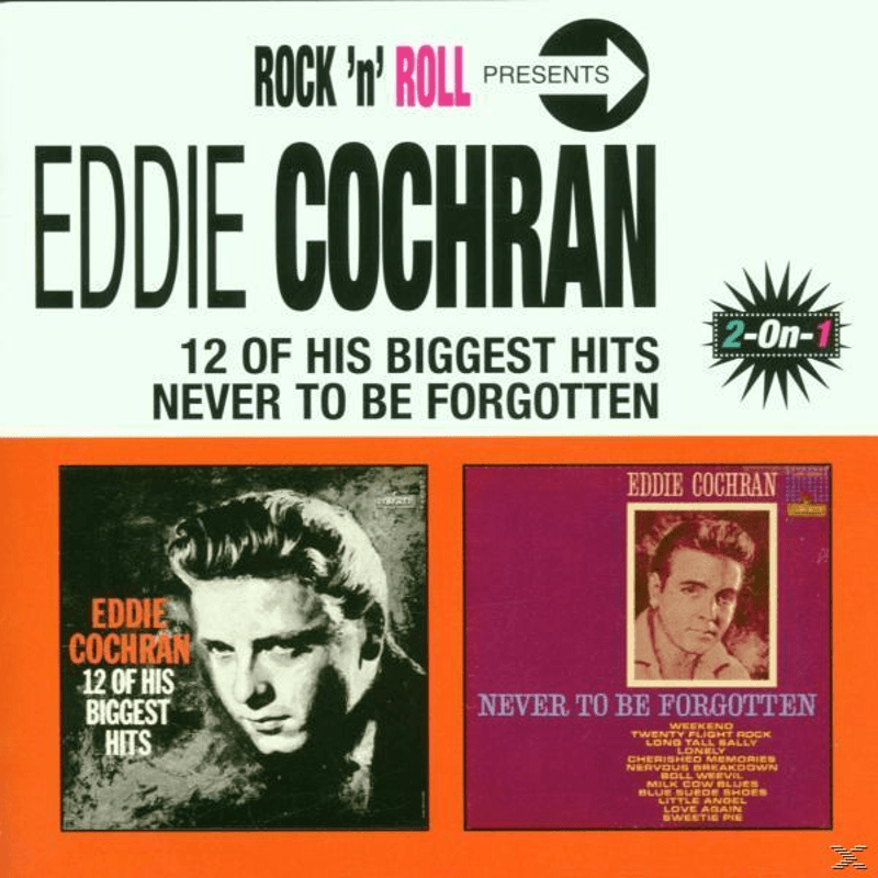 Eddie Cochran 12 Biggest Hits/Never To Be Forgotten Pop CD