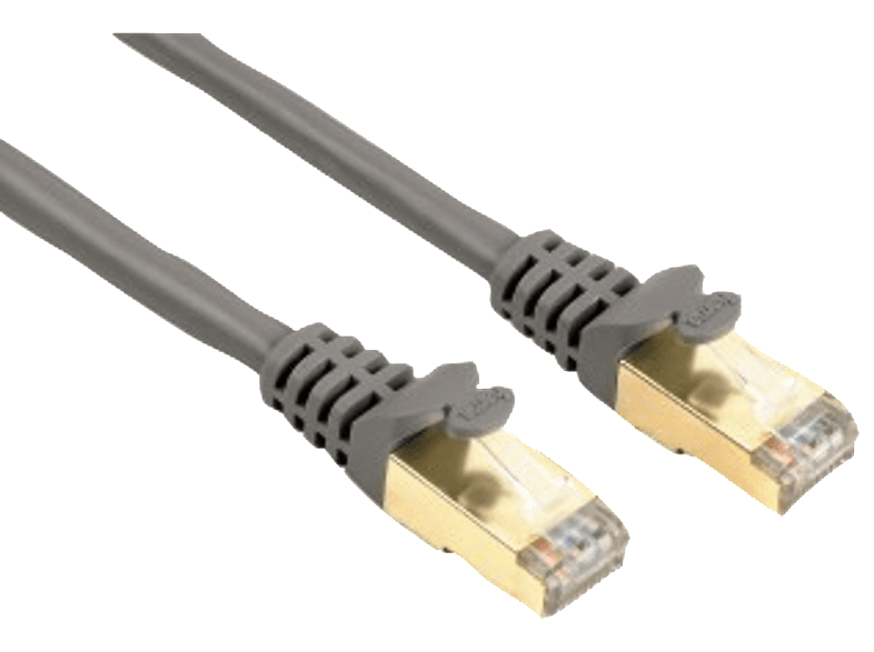 HAMA CAT 5e Network Cable STP, gold-plated, shielded Grey, 1.50 m - (00041894) καλώδια υπολογιστών
