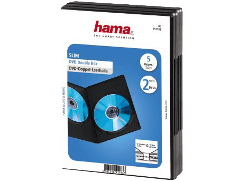HAMA DVD SLIM DO-BOX BL. 5 τχμ - (51183) cd  dvd  blu ray