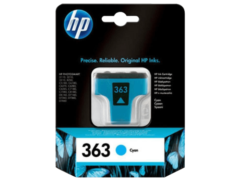 HP Vivera 363 4ML Cyan - (C8771EE) μελάνια  toner