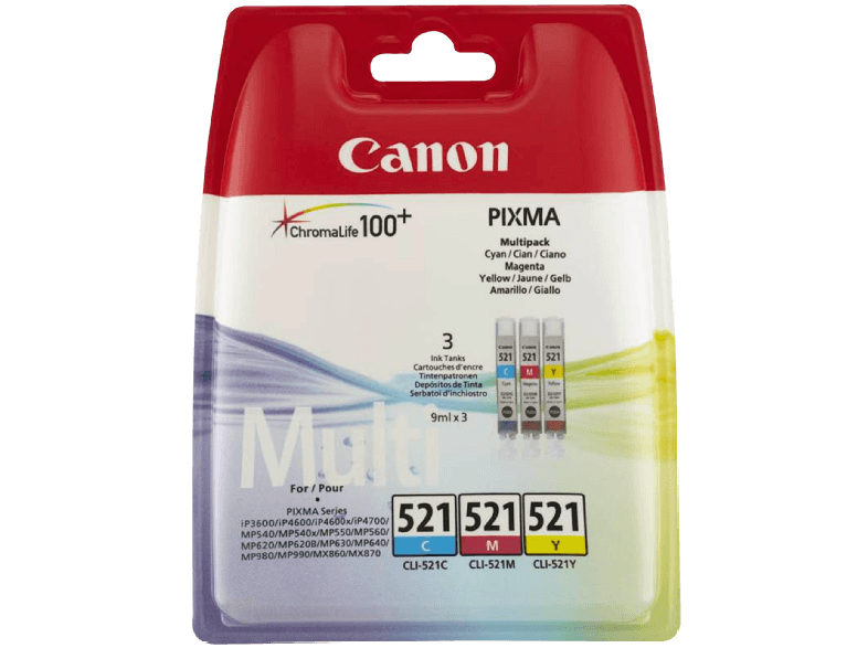 CANON CLI 521 Value Pack μελάνια  toner