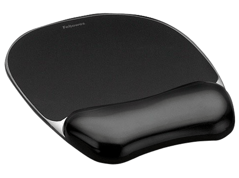 FELLOWES Crystal™ Gel Mouse Pad/Wrist Rest Black - (9112101) mousepad