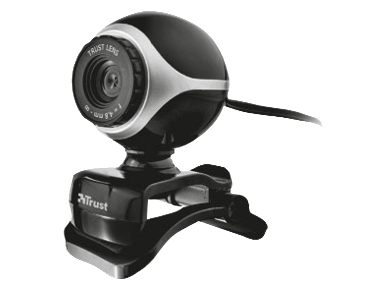 TRUST Exis Webcam Black/ Silver - (17003) webcam