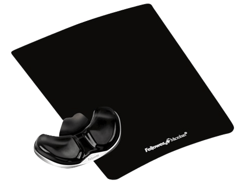 FELLOWES Health-V™ Crystal Gliding Palm Support Black- (9180601) mousepad
