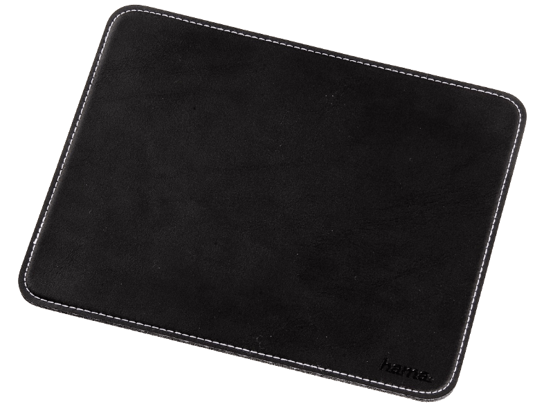 HAMA 54745 Mouse Pad with Leather Look, Black mousepad