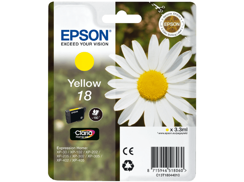 EPSON T180440 XP 202 INK Yellow μελάνια  toner