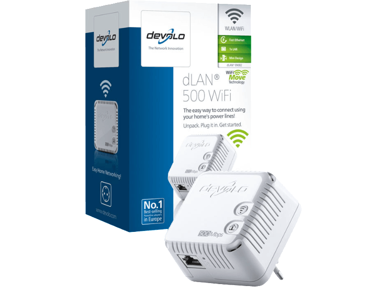 DEVOLO 9082 dLAN® 500 WiFi powerline