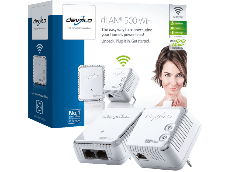 DEVOLO 9089 dLAN® 500 WiFi Starter Kit powerline