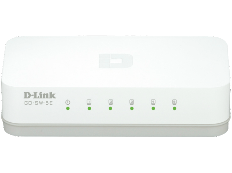 D-LINK 5-Port Fast Ethernet Easy Desktop Switch - (GO-SW-5E) access point  router  range extender  switch