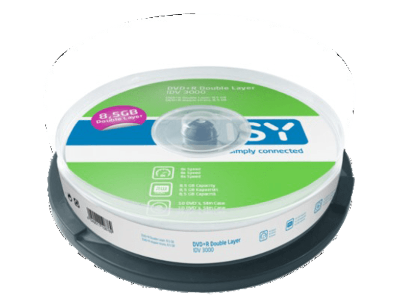ISY DVD+R Double Layer 8.5 GB (10 τεμ.) - IDV 3000 cd  dvd  blu ray