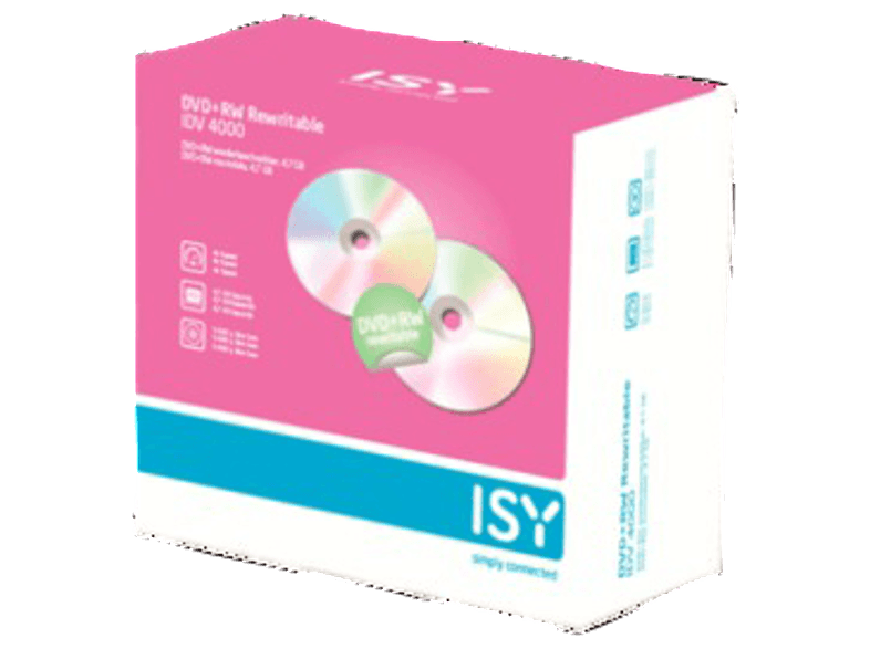 ISY DVD+RW 4.7GB (5 τεμ.) - IDV 4000 cd  dvd  blu ray