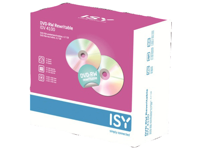 ISY DVD-RW 4.7GB (5 τεμ.) - IDV 4100 cd  dvd  blu ray