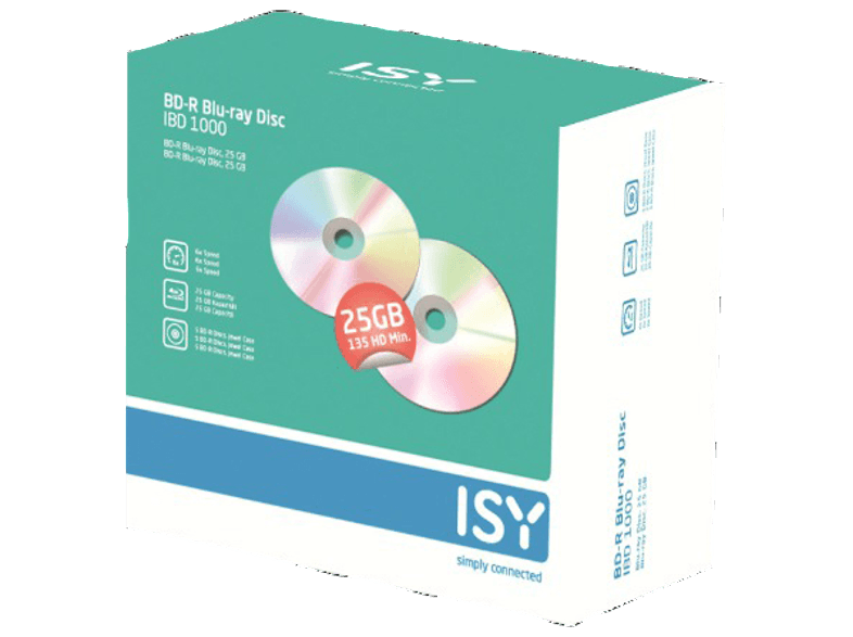 ISY BD-R 25 GB (5 τεμ.) - IBD 1000 cd  dvd  blu ray