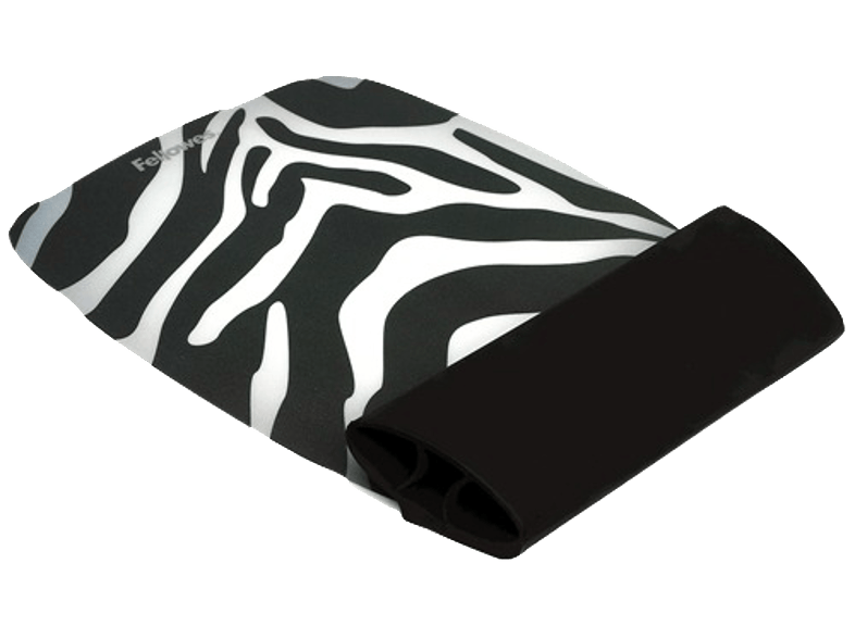 FELLOWES Silicone Wrist Rocker - Zebra Pattern - (9362301) mousepad