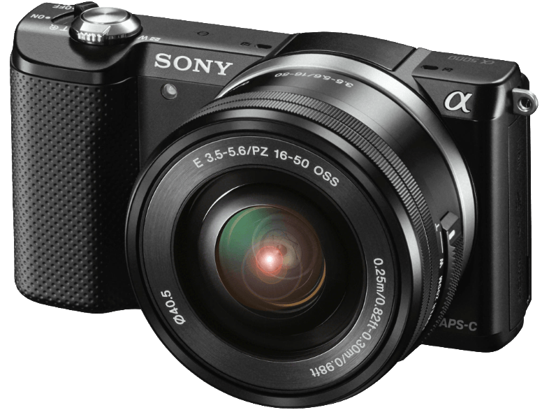 SONY Alpha 5000 Black με φακό 16-50mm (ILCE-5000LB) mirrorless cameras
