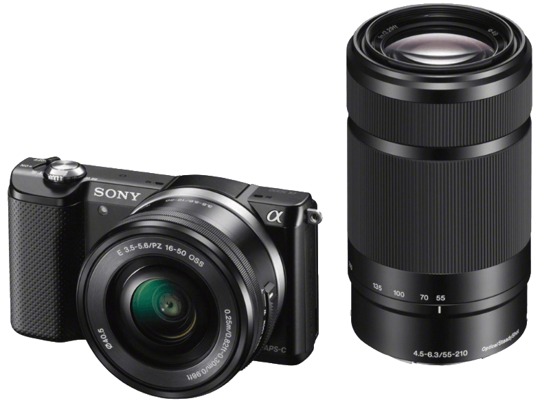 SONY ILCE 5000 YB KIT SELP1650 + Φακός 55-210mm mirrorless cameras