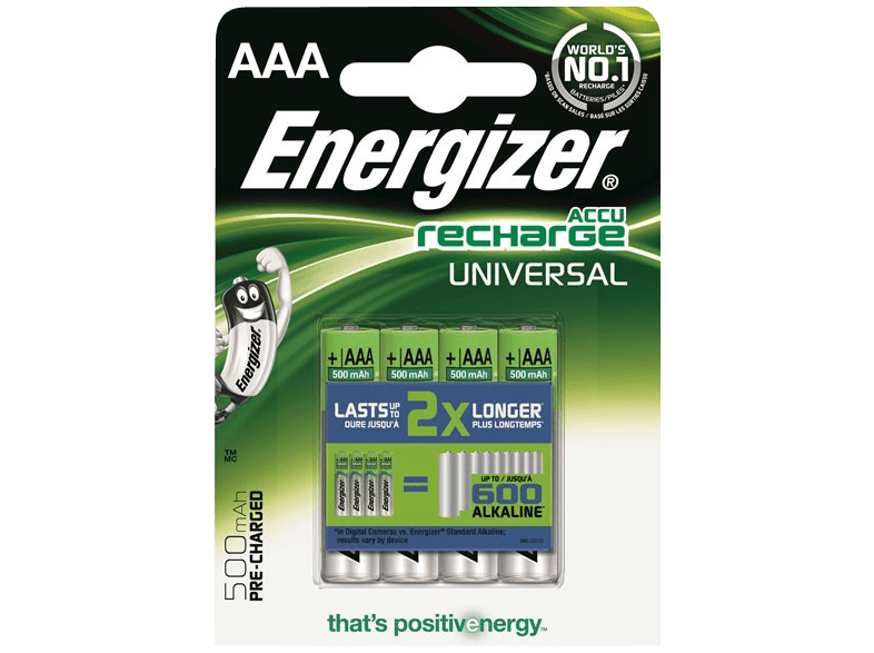 ENERGIZER F016307 AAA 500 mAh PRECHARGED μπαταρίες  φορτιστές