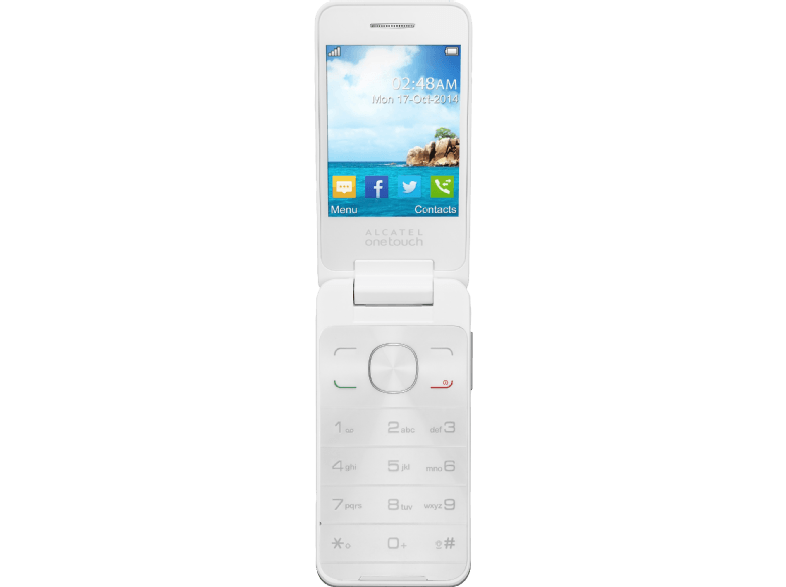 ALCATEL 2012D Pure White κινητά