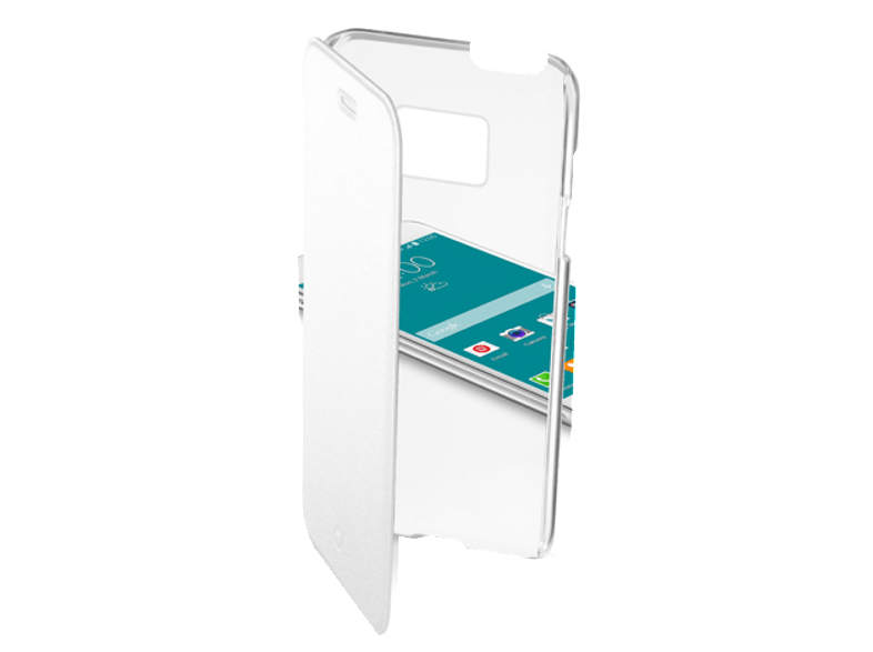 CELLULAR LINE CLEARBOOKGALS6W TRSP WHITE - (237577 ) θήκες  μεμβράνες samsung