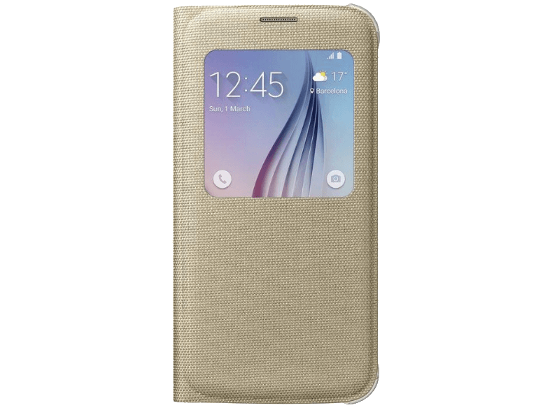 SAMSUNG S-view Cover Galaxy S6 Fabric Gold - (EF-CG920BFEGWW) θήκες  μεμβράνες samsung