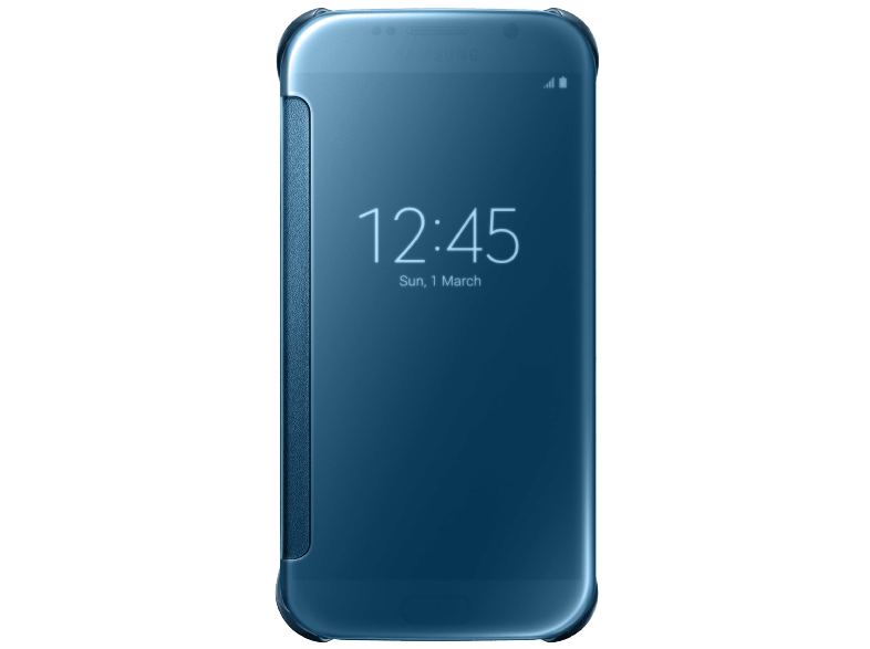 SAMSUNG Clear View Cover Galaxy S6 Blue - (EF-ZG920BLEGWW) θήκες  μεμβράνες samsung