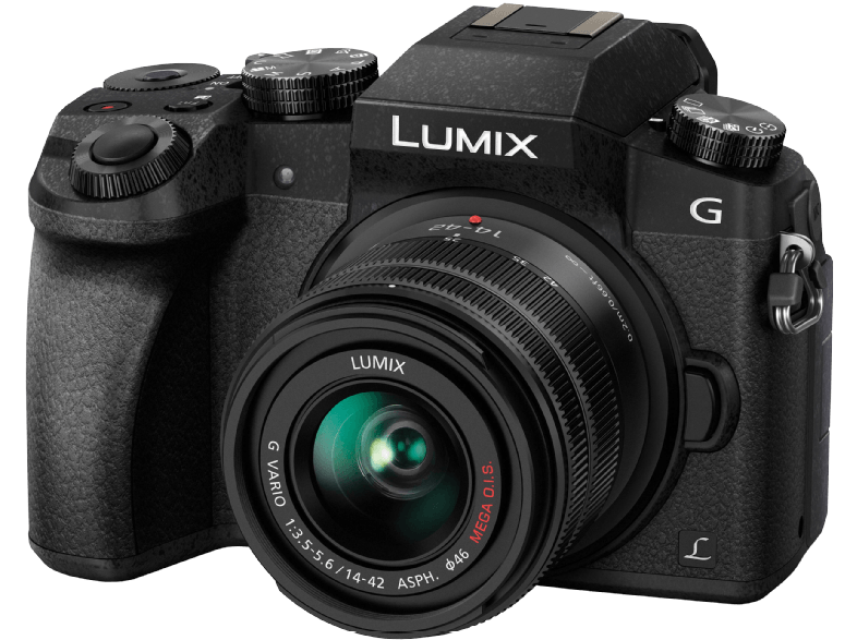 PANASONIC Lumix DMC-G7 Black + Φακός 14-42mm - (DMC-G7HEG-K) mirrorless cameras