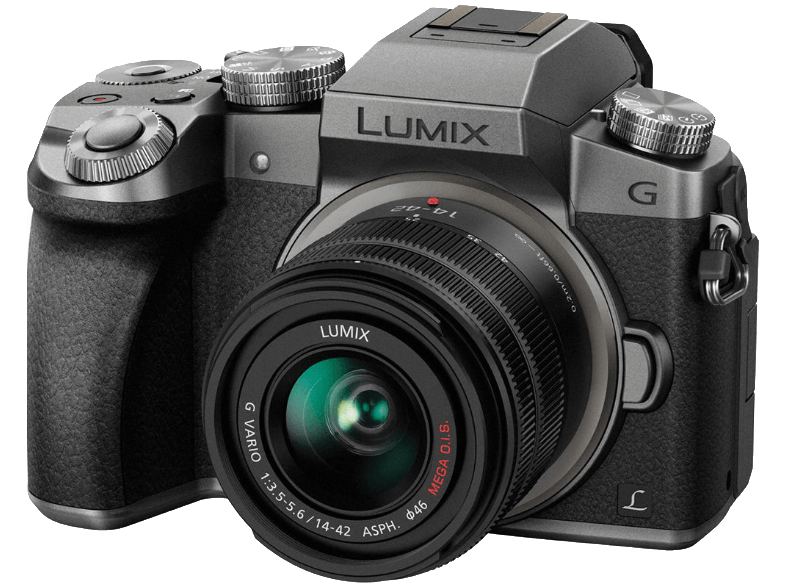 PANASONIC Lumix DMC-G7 Silver/Black + Φακός 14-42mm - (DMC-G7HEG-S) mirrorless cameras