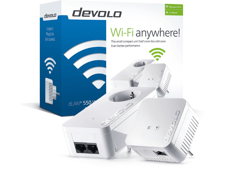DEVOLO dLAN® 550 Wifi Starter Kit Powerline - (9638) powerline