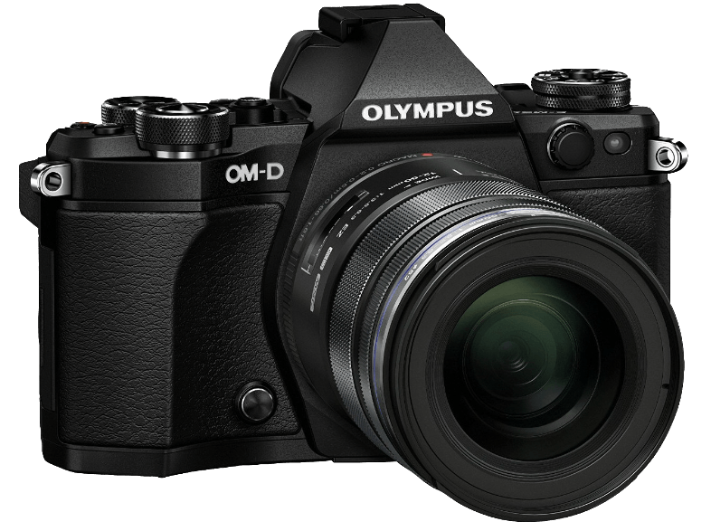 OLYMPUS E‑M5 Mark II Kit EZ-M 12-50mm Black - (V207042BE000) mirrorless cameras