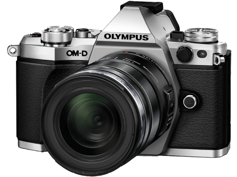 OLYMPUS E‑M5 Mark II Kit EZ-M 12-50mm Silver - (V207042SE000) mirrorless cameras