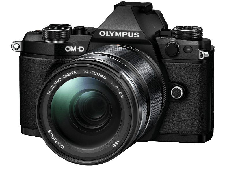 OLYMPUS E‑M5 Mark II Kit EZ-M 14-150mm II Black - (V207043BE000) mirrorless cameras