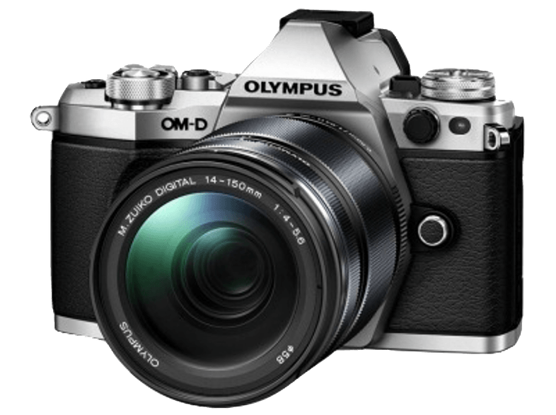 OLYMPUS E‑M5 Mark II Kit EZ-M 14-150mm II Silver - (V207043SE000) mirrorless cameras