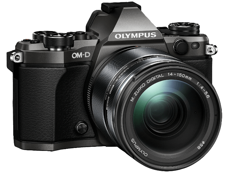 OLYMPUS E‑M5 Mark II Kit EZ-M 14-150mm II Titanium - (V207043TE000) mirrorless cameras