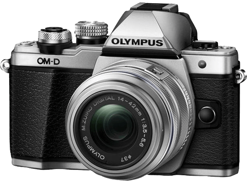 OLYMPUS E-M10 Mark II Kit EZ-M 14-42mm IIR Silver - (V207051SE000) mirrorless cameras