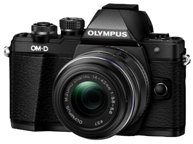 OLYMPUS E-M10 Mark II Kit EZ-M 14-42mm IIR Black - (V207051BE00) mirrorless cameras