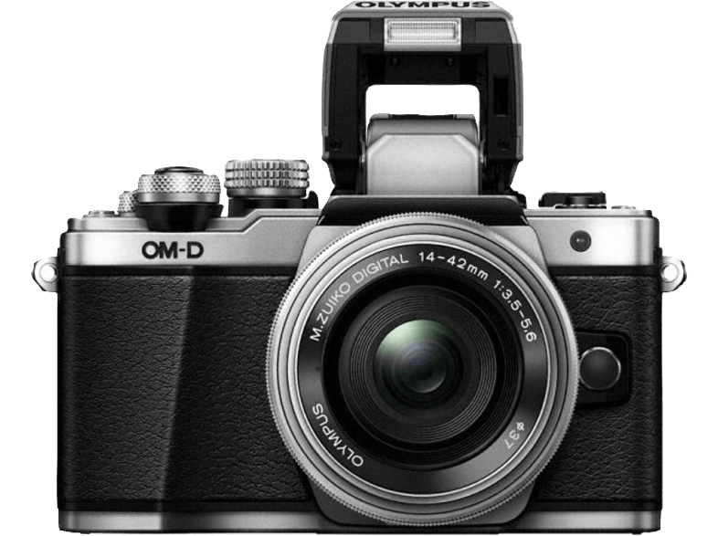 OLYMPUS E-M10 Mark II Kit EZ-M 14-42mm EZ Silver - (V207052SE00) mirrorless cameras